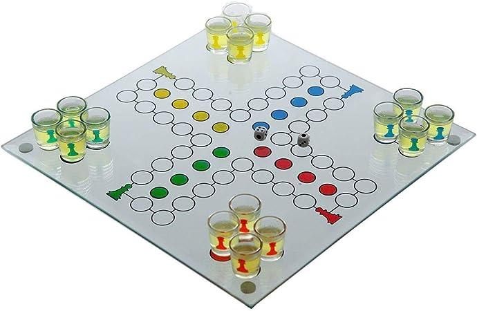 Juego de beber de cristal beber cerveza Party Juego Dados parte Party Drinking Game: Amazon.es: Electrónica