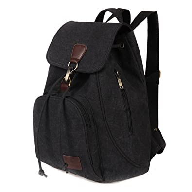 53fbd5e9e95 Women and Girls Canvas Backpack Hiking Daily Bag Outdoor Casual Travel Back  Packs Portable Student Bag