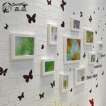 Bilderrahmen*10, Euro Style Massivholz Foto Wand Kleines Wohnzimmer Wand  Dekoration Wand Foto