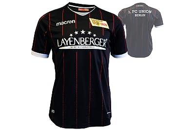 Macron 1. FC Union Berlin Niños Camiseta de fútbol Negro 17/18 FCU Away