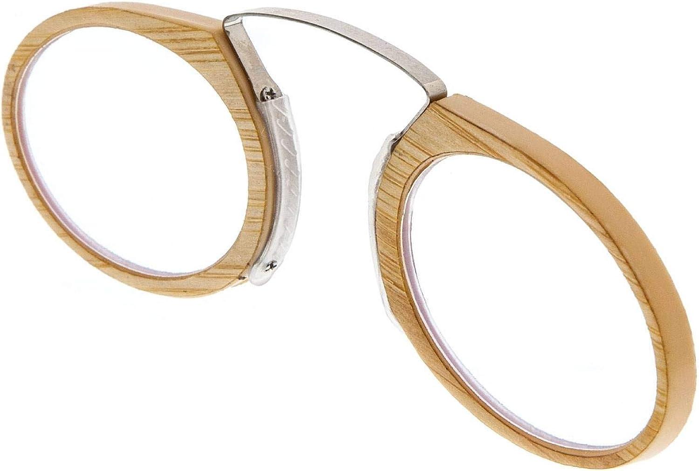 5 Diottrie Disponibile Occhiali da riposo Senza Stanghette Occhiali da Lettura o Vista Anti Luce Blue per Uomo o Donna ORSAY BAMBU Montatura e Case di Bambu e Cristalli Antiriflesso