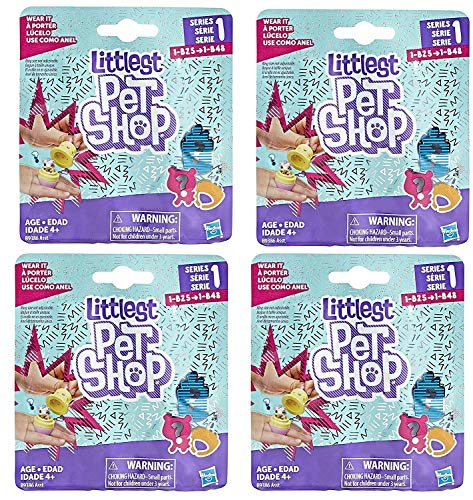 Littlest Pet Shops Blind Bag Pets - Pack of 4 (Series 1) (Littlest Pet Shop Blind Bags Series 4)