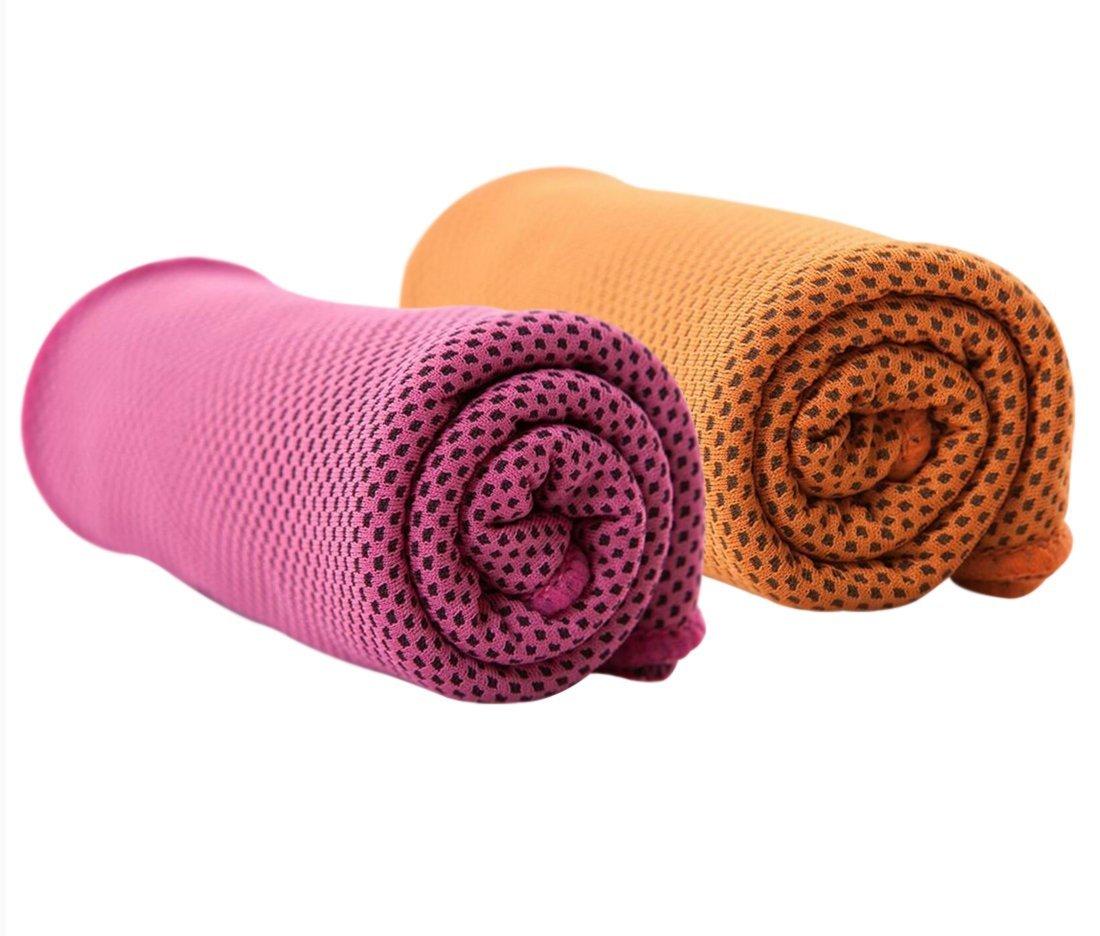 Yoga Fitness Sciarpa Fredda Uomo Donna Bambini Animali Domestici Arancia Barrageon 1 Pezzo Asciugamano Raffreddamento Rinfrescante per Sollievo Immediato dal Calore per Sport