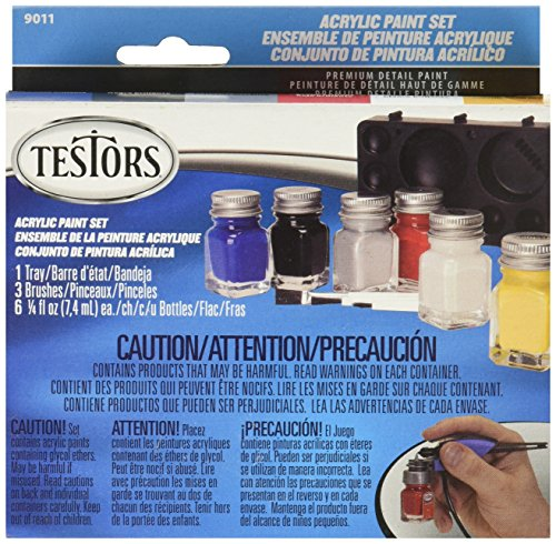 TESTOR CORPORATION 9011 6-Color Prim Acrylic Set