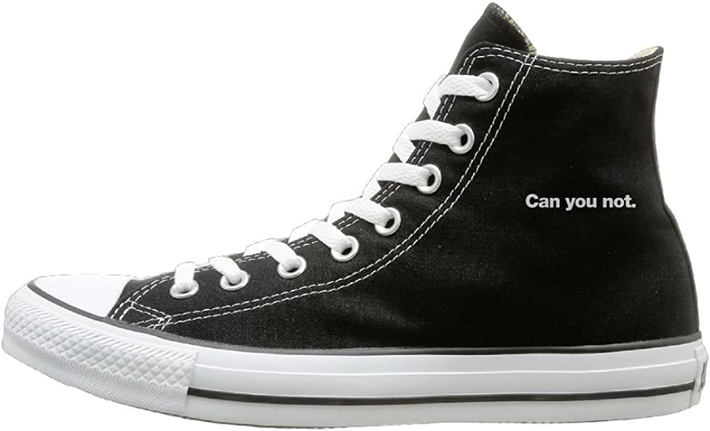 Shenigon Can You Not Canvas Shoes High Top Design Black Sneakers Unisex Style