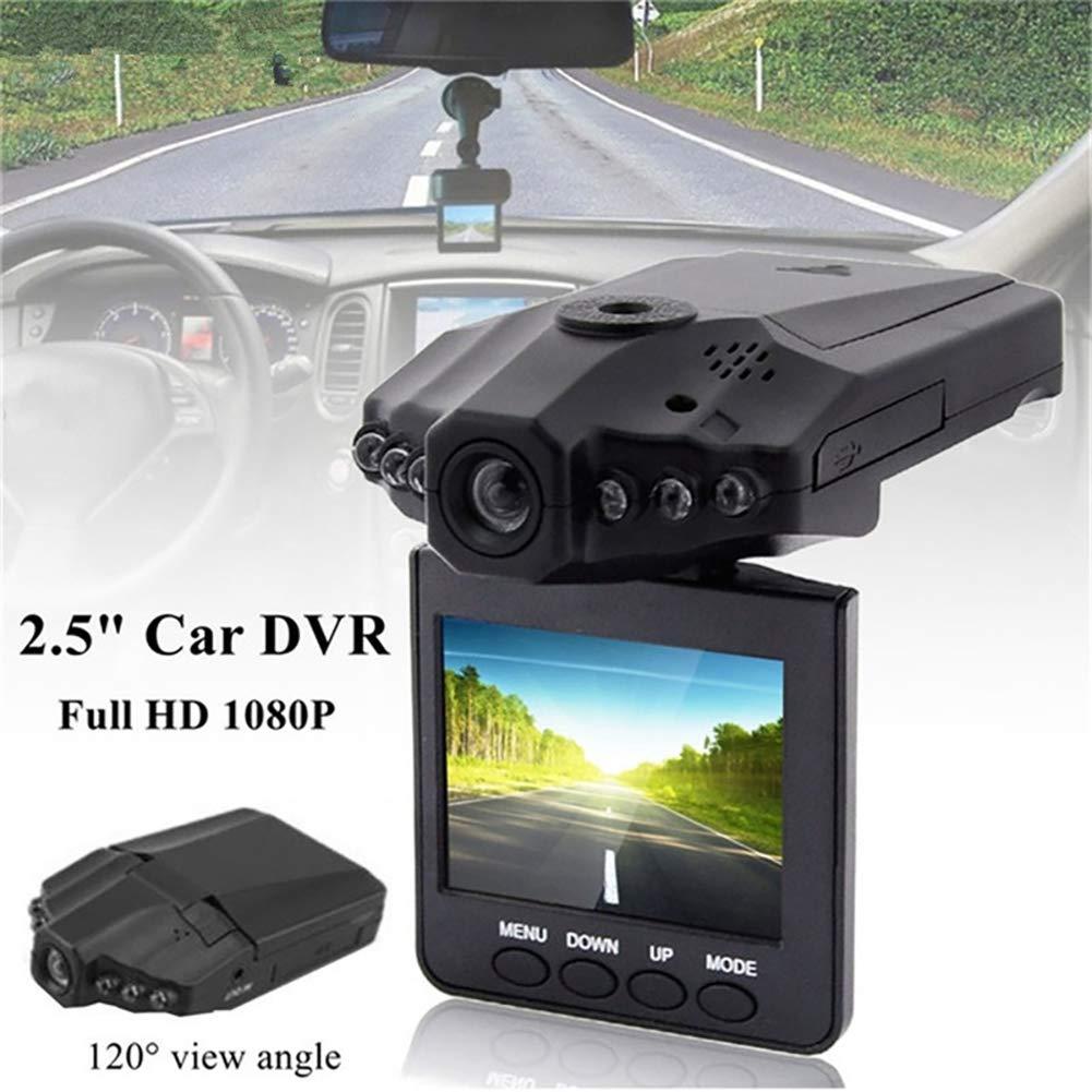 UKNANY Cam/éra embarqu/ée professionnelle Full HD 1080p avec vision nocturne infrarouge et 6 lumi/ères