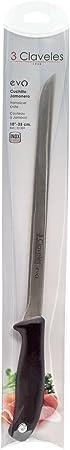 3Claveles Evo - Cuchillo jamonero, 25 cm, 10 pulgadas