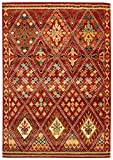Stone & Beam Traditional Detailed Diamond Rug, 5' x 7'5'', Rust