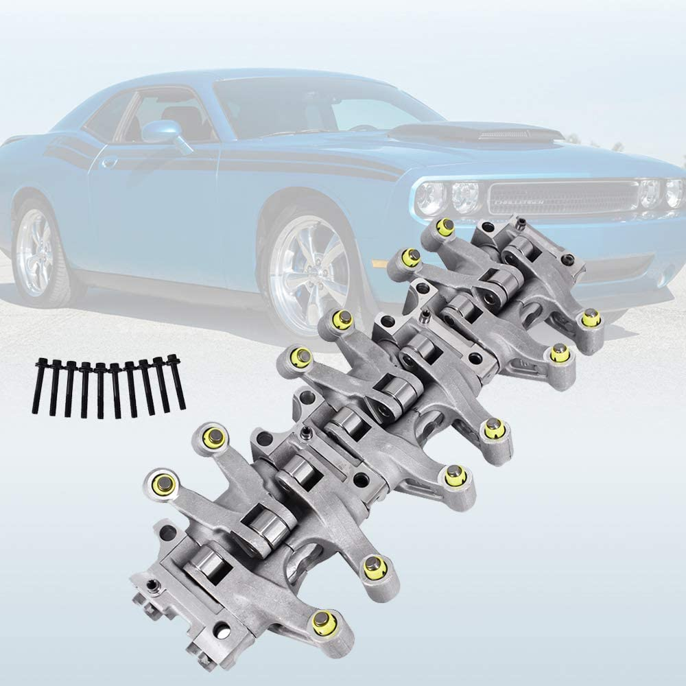 Rocker Arm Assembly Exhaust Valve Rocker Arm Shaft Lifter Assembly Set Fits for 2005-2010 Dodge Charger Challenger 3.5L 4.0L Engine Replaces 4892293AC