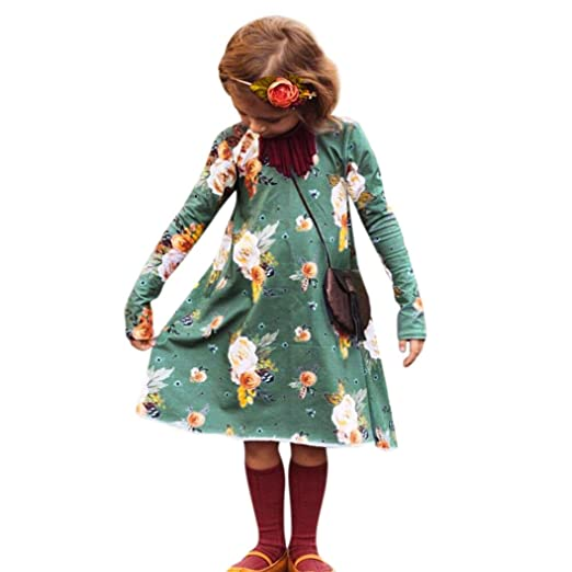 57ff56c174b2 Amazon.com  Goodlock Toddler Infant Kids Fashion Dress Baby Girls ...