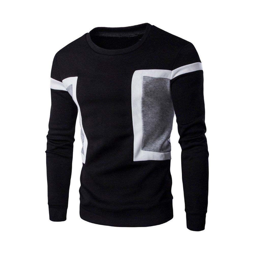 BlueSterCool Maglie Uomo Manica Lunga Cotone Pullover Maglioni Invernal magliette