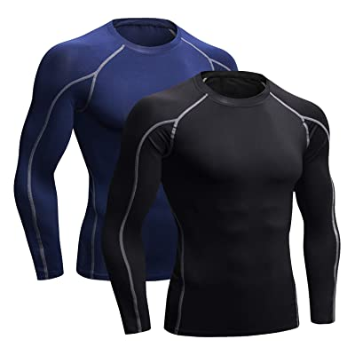 Mens Workout Sports Compression Base Layer Shirts Cycling Tights Cool Dry Tops