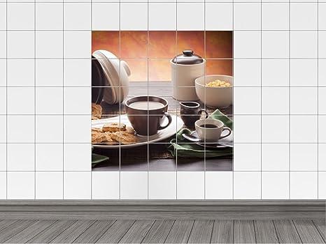 Piastrelle adesivo piastrelle stampa su latte caffè e tè con