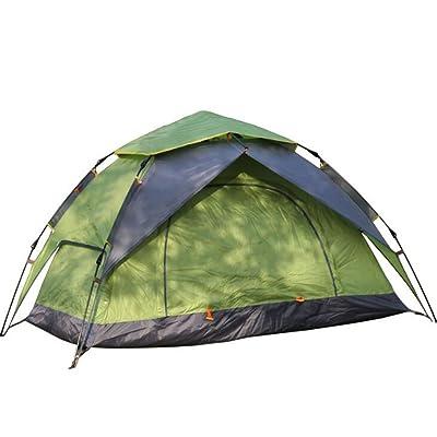 EE-Tente De Camping De Famille De 2-3 Personnes Tentes De Backpacking De 4 Saisons Tente Automatique InstantanéE De Pop-Up Pour Les Portes ExtéRieures Doubles De Sports Et Les Moustiquaires