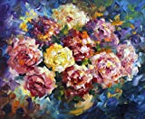 Puffy Roses is a Limited Edition print from the Edition of 400. The artwork is a hand-embellished, signed and numbered Giclee on Unstretched Canvas by Leonid Afremov. Embellishment on each of these pieces will be slightly different, but the image its...