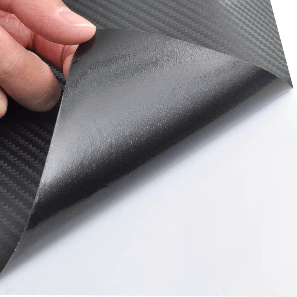Film Fibre de Carbone 3D Vinyl Noir 152 x 500 cm pour Voiture