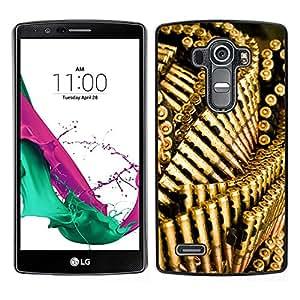 LECELL--Funda protectora / Cubierta / Piel For LG G4 -- Las balas pistola de oro Bling Wallpaper --
