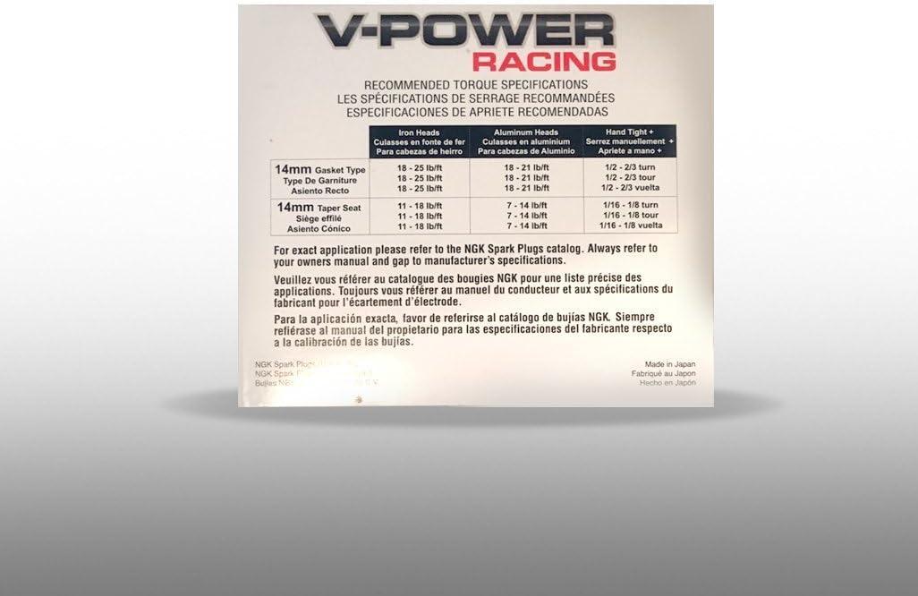 ngk5820 Racing Bujía (r5671 a-10) – unidades 4 – V-Power: Amazon ...
