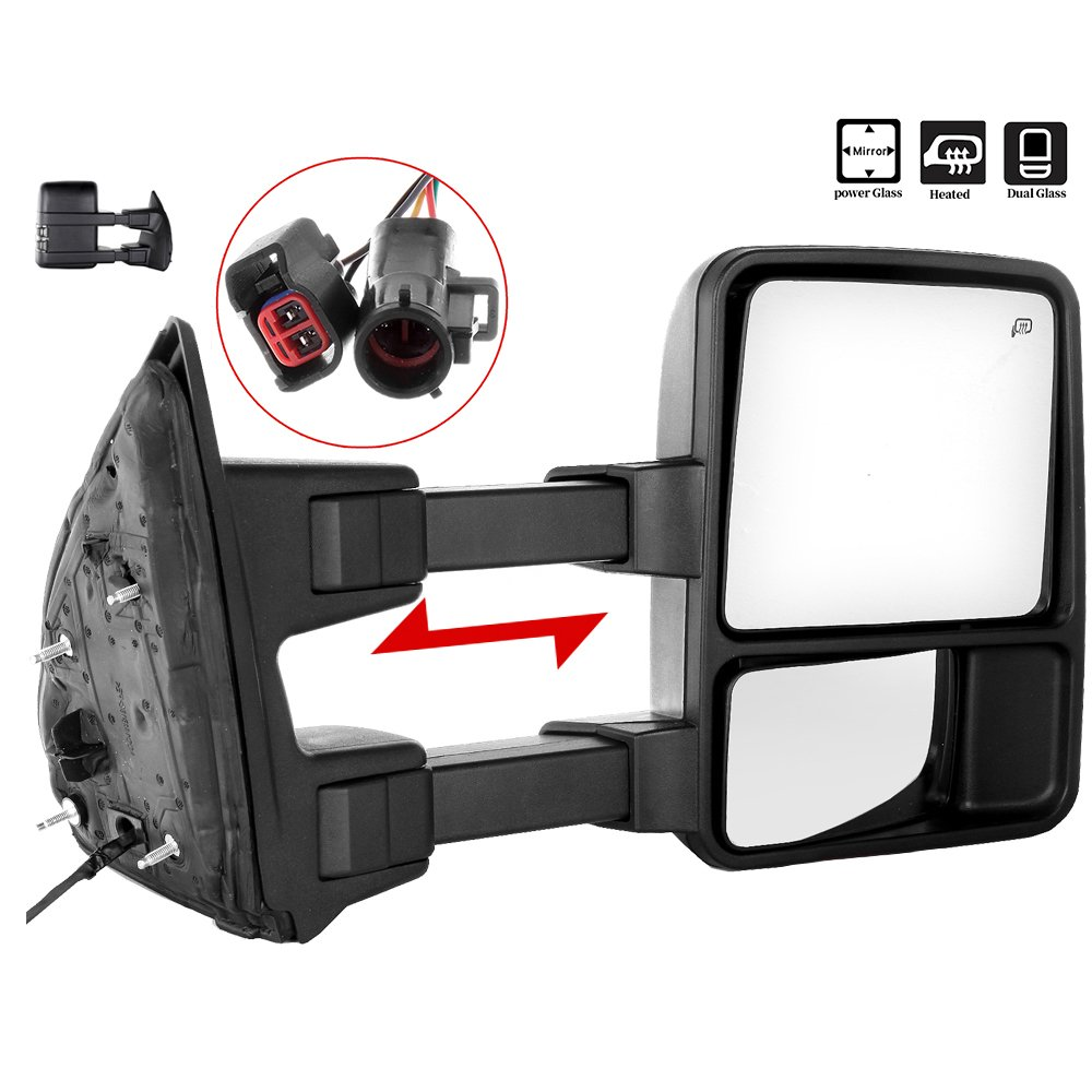 New Drivers Manual Tow Side Telescopic Mirror 99-07 Ford Super Duty Pickup Truck