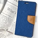 King Sales Covers For Sony Xperia T2 Ultra Flip Cover Diary Wallet Case (Canvas Series) (Blue)