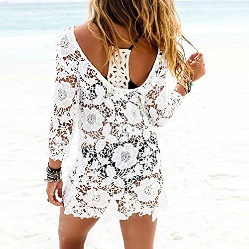 Blanc Crochet De Femme Etosell Maillots De Plage De Bikini Bain Robes IZIqxwzv7