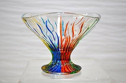 Amazon Murano Glass Fire Bowl Compote Home Kitchen
