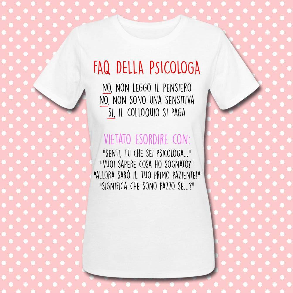 T-shirt donna Faq della Psicologa  frasi tipiche divertenti! Idea regalo per  una 3487135e6851