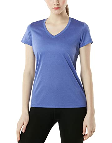 ac46b73c6c41 ... Long Sleeve Crew Neck Tops Tee T Shirts. 99 · TSLA Women's Performance  Active Cool Running Athletic Tops (Pack of 1, ...