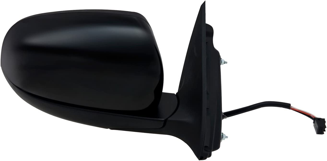 Code GUU Foldaway Driver Side Mirror for Jeep Cherokee w//Turn Signal Textured Black w//PTM Cover w//o Blind spot Detection System Puddle lamp Heated Power Memory