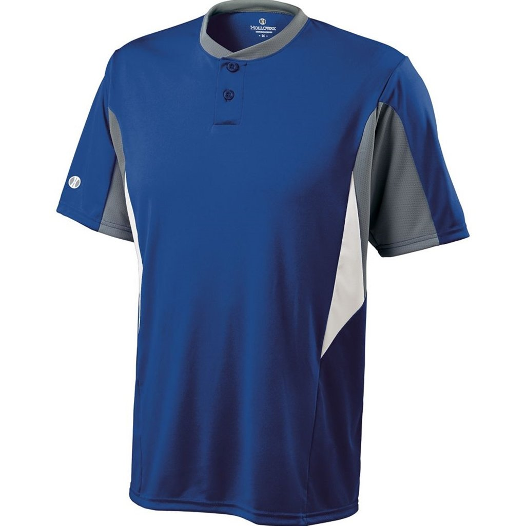 Holloway Dry-Excel Youth Rocket Jersey (X-Large, Royal/Blue Grey/White)