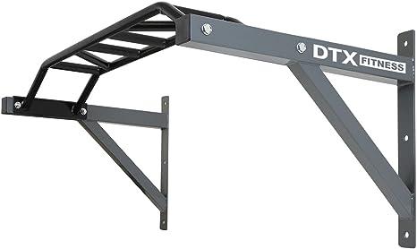 Barra de dominadas para montaje en pared con varios agarres DTX Fitness: Amazon.es: Deportes y aire libre