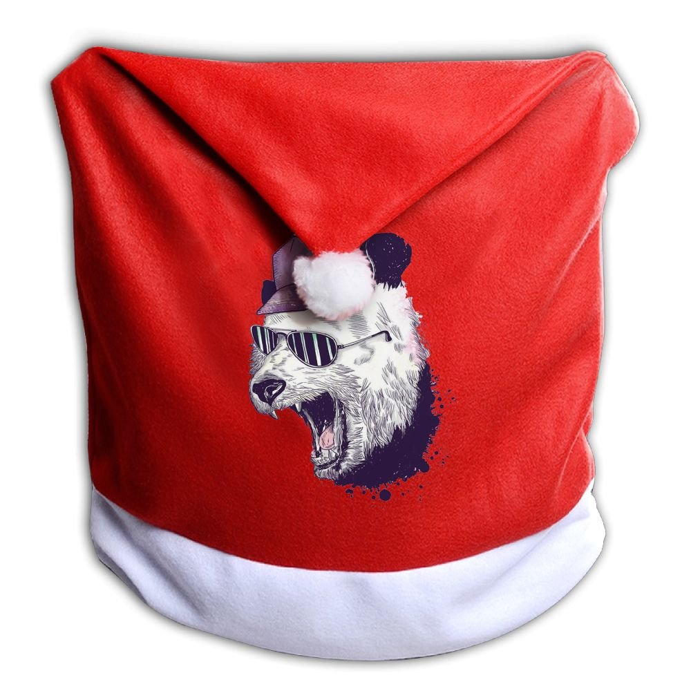 YHOLY_1 Fashion Animal Roaring Panda Bear Head Christmas Dining Chair Back Cover Slipcovers Decoration