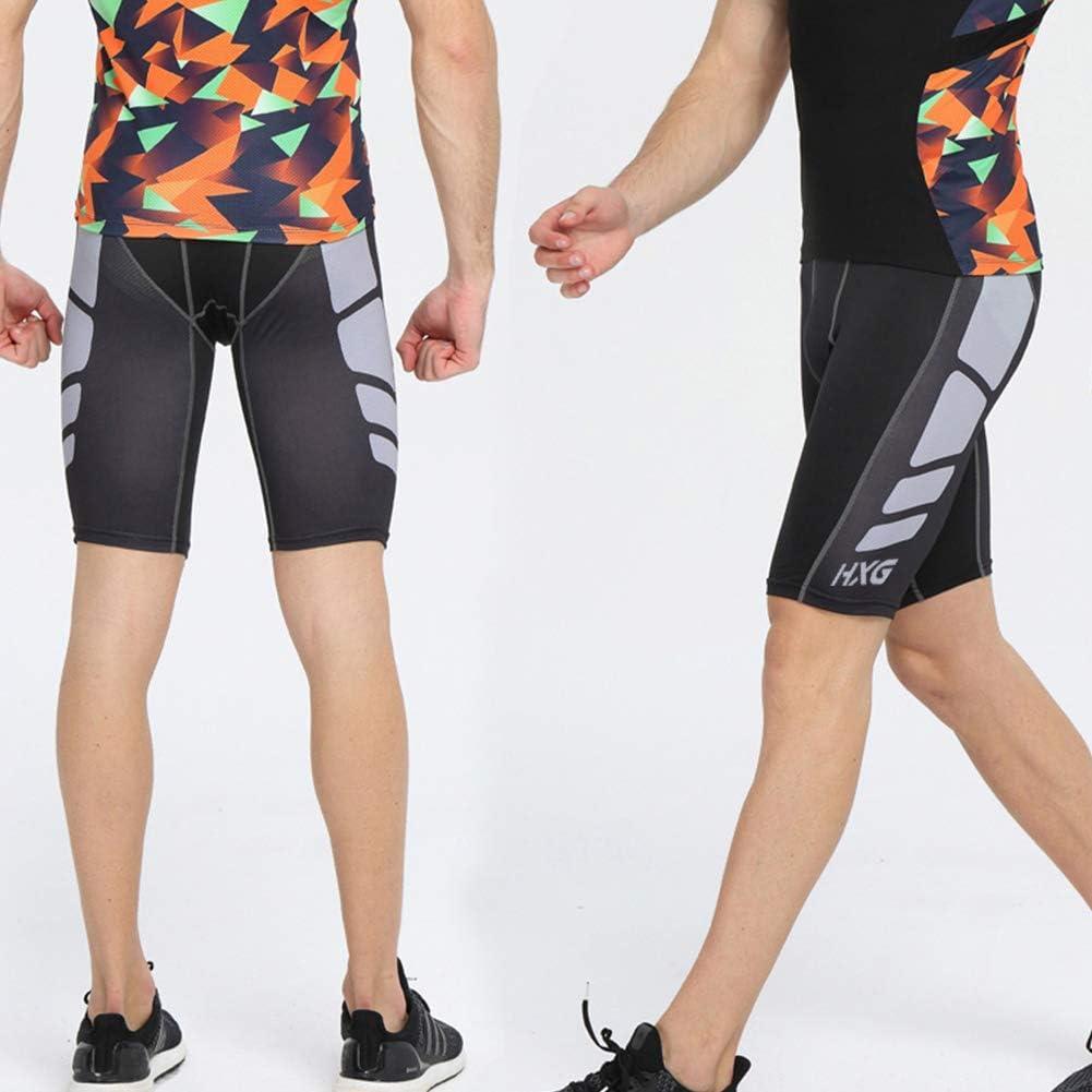 Hivexagon Pantalones Cortos de Compresi/ón de Media Pierna para Deportes Correr y Entrenamiento de Gimnasio SM008