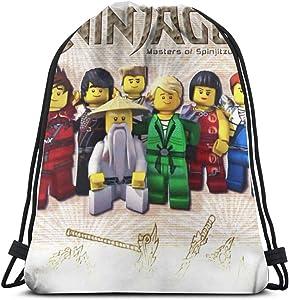 Ninjago Drawstring Bag Sports Fitness Bag Travel Bag Gift Bag
