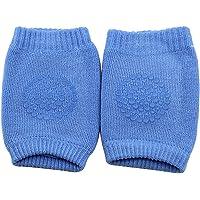 DaKos Cotton Baby Crawling Anti-Slip Kneepads Pads (Dark Blue) - 1 Pair