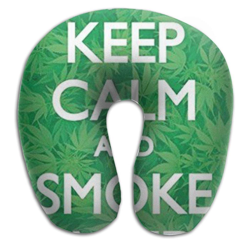 Cannabis Leaf Lightweight Neck Pillow Spa Memory Foam U-SHAPE Driving Person by Nov (Image #1)