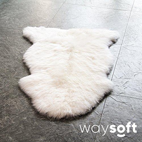 Light Pink Rose Meaning (WaySoft(TM) Eco-Friendly Ivory New Zealand/Australia Sheepskin Rug—Genuine Wool (2ft x 3ft))