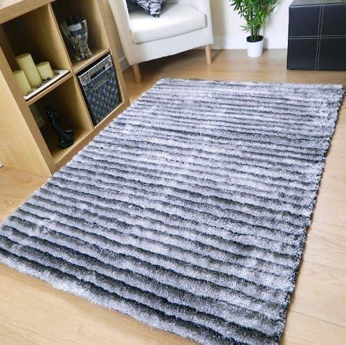Brillant Or gris épais MASSIF salon soyeux Tapis Tapis Moderne Épais Shaggy