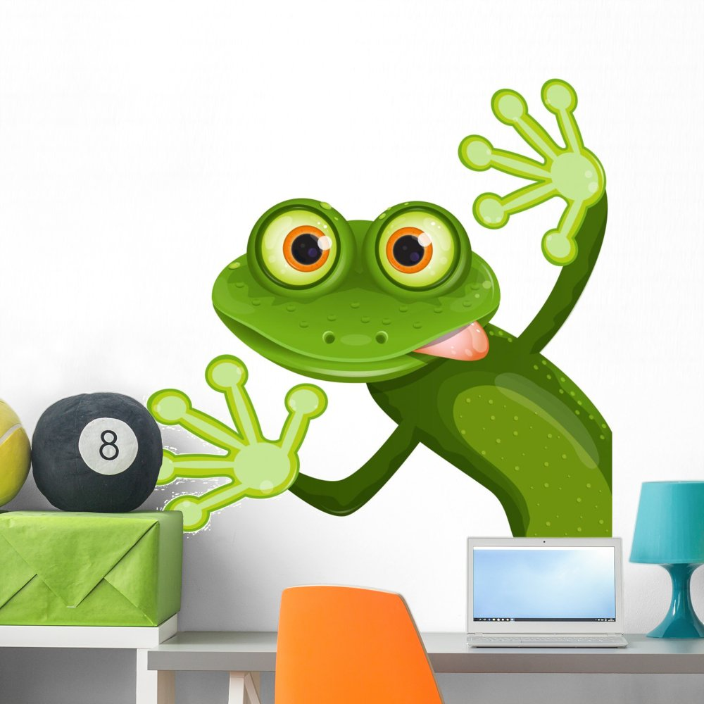 Wallmonkeys Frog Wall Decal Peel and Stick Graphic (36 in W x 36 in H) WM323350
