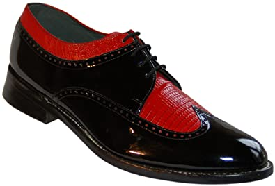 Amazon Com Stacy Baldwin Black And Red Wingtip Spectator Shoes All