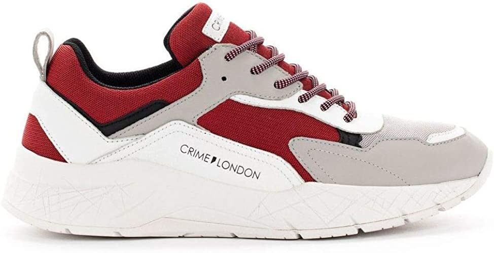 Crime London – Zapatillas Komrad Blancas y Rojas – 1152771 ...