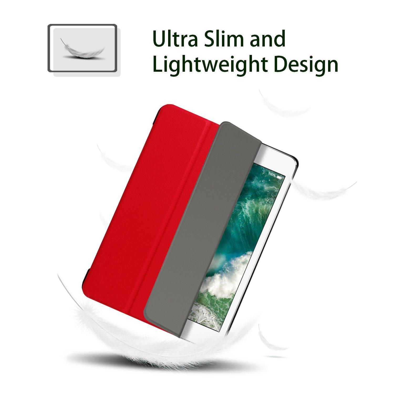 9.7 Pulgada TPU Transparente Back Cover Case Flexible Silicona Fundas Carcasa Protector para 9,7 Pulgadas Apple iPad 2017 // iPad 2018 HBorna Funda iPad 2018//2017 Transparente