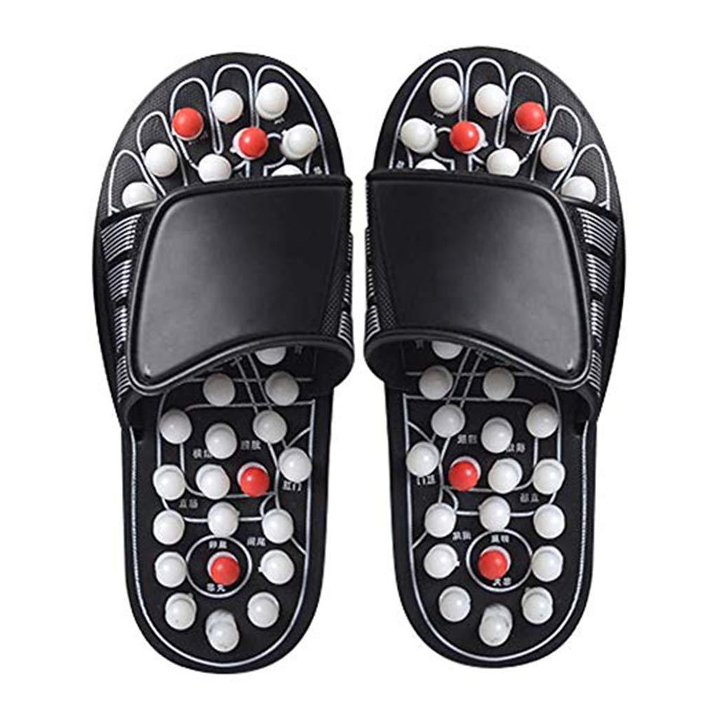 Foot Massagers Acupressure Massage Slippers, Foot Massage Shoes Acupoint Massage Slippers,Relief Plantar Fasciitis Heel Arch Arthritis Neuropathy Pain,Black,42/43 by HaoY