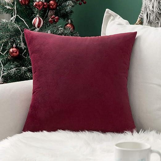 Amazon.com: MIULEE Velvet Soft Soild Decorative Square Throw