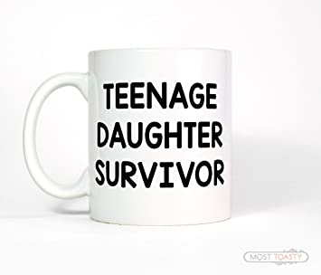 Amazon Teenage Daughter Survivor Coffee Mug