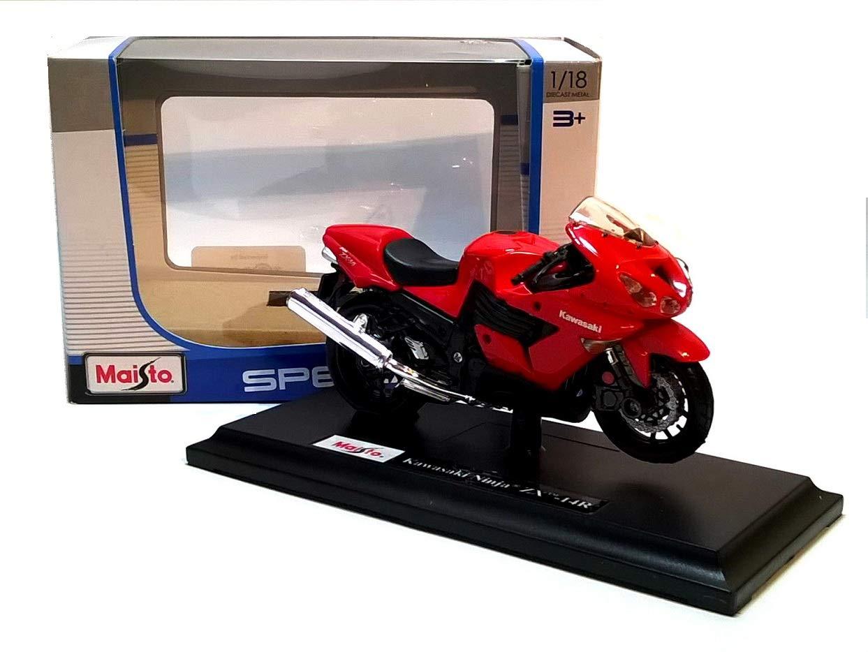 Kawasaki Ninja ZX-14 rot 1/18 Maisto Modellmotorrad Modell ...