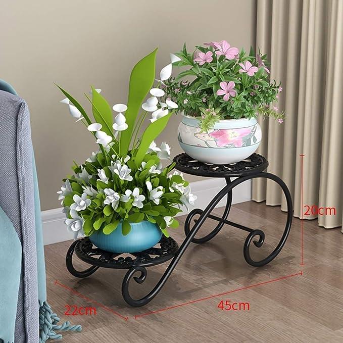Madcg Soporte de Flores de Hierro Forjado, Soporte de exhibición ...