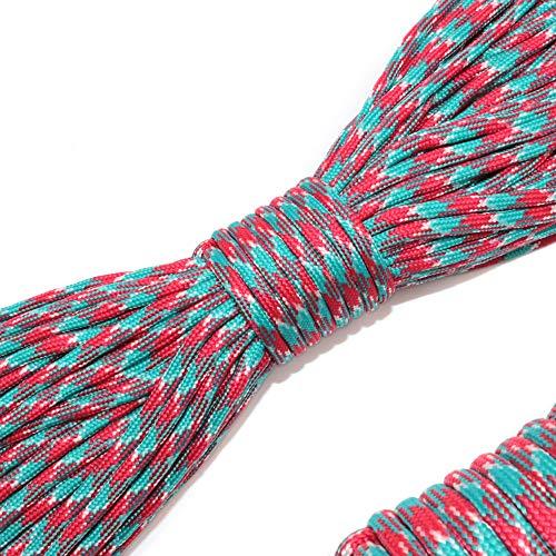 流星求める疲労AUWOO パラコード 4mm 31m 9芯 テント ロープ パラシュートコード キャンプ サバイバル アウトドア 用