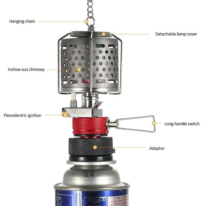 Lixada campeggio lampada luce gas butano luce lanterna esterni solo per campeggio picnic