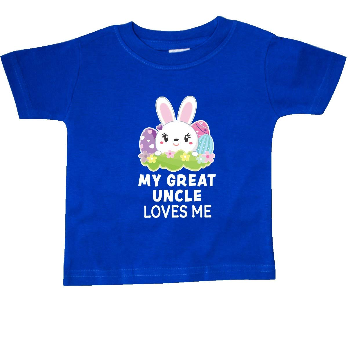 inktastic My Great Uncle Loves Me with Bunny and Easter Eggs Baby T-Shirt